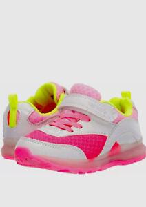 Carter's Kids' Zimmer Light Up Hook and Loop Slip on Athletic, Pink, Size 11