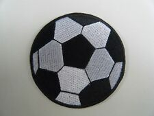 FOOTBALL PATCH Embroidered Iron On Soccer Round Sports Ball Game Badge NEW