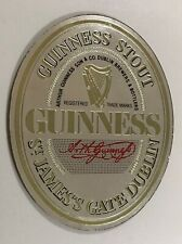 More details for original vintage guinness mirror pub home bar man cave lager stout dublin rare