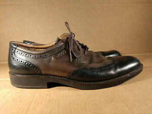 ECCO Mens Brown Leather Wingtip  Size 13 - 13.5 / Eur 47 Extra Width Casual Shoe