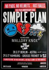 SIMPLE PLAN - 2017 - Konzertplakat - No Pads... - Tourposter - Berlin / Hamburg