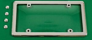 UNBREAKABLE Clear License Plate Shield Cover + CHROME Frame