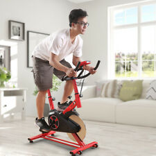 BICI DA SPINNING DIGITALE BICICLETTA CYCLETTE FITNESS SPINBIKE VOLANO 10KG ROSSO