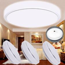 Modern 12W LED Flush Mount Ceiling Light PIR Motion Sensor Lamp Bathroom Kitchen