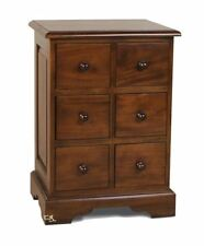 Mahogany 6 Drawer CD Chest
