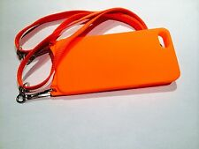 iPhone 5 5S SE Orange case with Adjustable Detachable Safety Lanyard