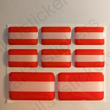 Pegatinas Austria Pegatina Bandera Austria Vinilo Adhesivo 3D Relieve Resina