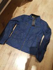 BNWT Belstaff Weybridge Wax Cotton Jacket Cobalt Blue IT 46 Small S