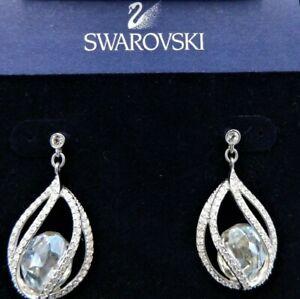 Signed Swarovski Megan Earrings NWOT Post