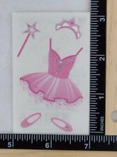 Mrs Grossman Dance PINK TUTU REFLECTIONS Stickers TUTU CROWN WAND BALLET 1/2 SHT
