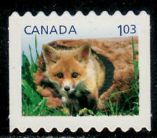 Canada #2430i Baby Wildlife : Red Fox Die-Cut from Booklet Mnh