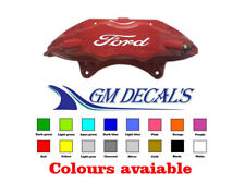 Ford logo Brake Caliper Sticker/Decals X4 all colours, Quality non oem.