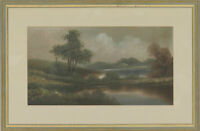 J. Bool - Signed & Framed Early 20th Century Oil, The Lake at Dusk