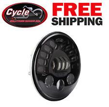 """J.W. Speaker 7"""" LED Adaptive Headlight 0551321 Black for Harley Davidson"""