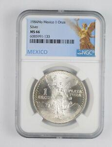 1984 MS66 - Mexico Mexican Libertad Graded NGC 1 oz Silver .999 Fine *985