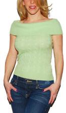 Polo Ralph Lauren Black Label Women Cashmere Sweater Shirt Top Green Medium