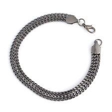 Luxury Men Stainless Steel Chain Bracelet Cuban Curb Link Hip Hop Jewelry JF