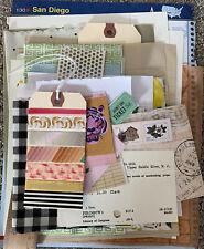 Lot 8 Collage Ephemera Collage Junk Journal Art Tissue Paper Tape Napkins Book