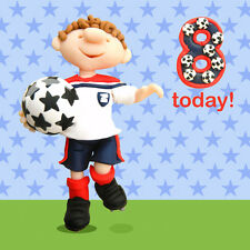 8 Today Boys 8th Birthday Card Ferdie & Friends Greeting Cards