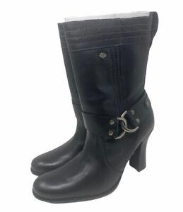 New Harley Davidson Black Lisbon Fashion Boots Womens Size 9 M US