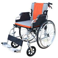 KEROS Silla de ruedas en aluminio manual plegable y autopropulsable para anciano