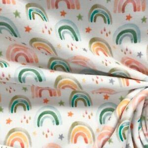 Stenzo Watercolour Rainbow Cotton Elastin Jersey Half Metre Knit