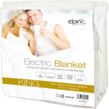 ELPINES NON-WOVEN ELECTRIC BLANKET HEATED FITTED MATTRESS KING SIZE BED