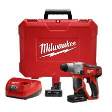 Rotary Hammer Drill 1/2 in. SDS-Plus 12-Volt Cordless With Battery Charger Case