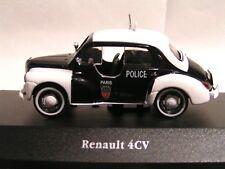 IXO / ATLAS 1/43   -  VOITURE DE POLICE RENAULT 4 CV PIE  (EN BOÏTE)