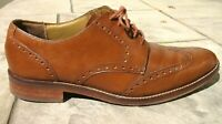 Cole Haan Grand OS Brown Leather Brogue Wingtip Formal Dress Shoes Mens 10 M
