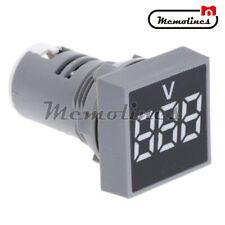 22mm Ac 20 500v Square Digital Led Voltmeter Voltage Gauge Meter Tester White