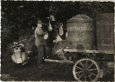 PHOTO ANCIENNE - VINTAGE SNAPSHOT - SCOOTER VESPA VENDANGES - GRAPE HARVEST
