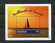 Mayreau Grenadines St Vincent 2015 MNH Sailboats at Sunset 1v S/S Boats Ships