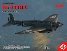 ICM 48261 He 111H-3, WWII German Bomber Scale Plastic Model Kit 1/48