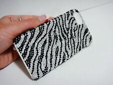 Zebra Black White Bling Made with Swarovski Crystal Hard Case Skin iPhone 7 Plus