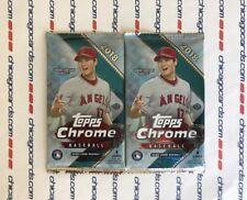 3x 2018 Topps Chrome Baseball MLB Hobby Pack Featuring Shohei Ohtani on Wrapper