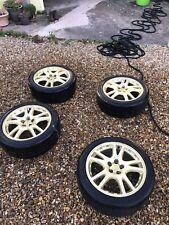 """Subaru Impreza 01-04 Genuine STi 17"""" Alloy Wheels + Centre Caps"""
