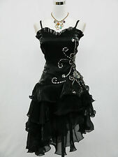Cherlone Plus Size Black Prom Ball Evening Formal Bridesmaid Wedding Dress 20-22
