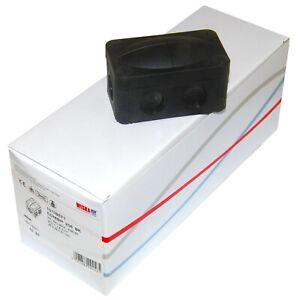 Box of 10 Wiska 206 Small Weatherproof Outdoor Combi Junction Boxes Black