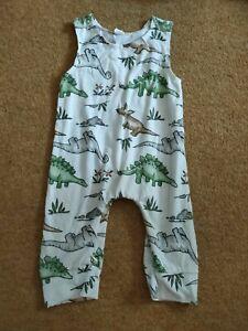 Baby Boy Dinosaur Print Romper Dungaree 12-18 Months