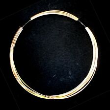 5 FT Merlin's Gold for wire wrapping, 18G Half Round (triangle) HH - hand drawn