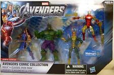 "AVENGERS COMIC COLLECTION #1 The Avengers 4"" Comic Series Figures Walmart 2012"