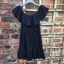 Asos Black Off Shoulder Dress Size 12