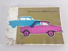 Betriebsanleitung / Handbuch DKW Junior & DKW Junior De Luxe Stand 09/1962