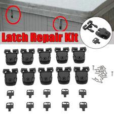 10 Set Spa Hot Tub Cover Broken Latch Repair Kit Clip Lock with Key & Hardware