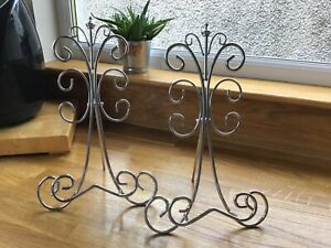 NEW Stunning Chrome Scroll Work Ornate Display Stand