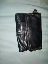 Fossil Black Leather Wallet Women's