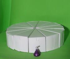 """Cake Slice Centerpiece 8 1/2"""" - 12 Favor Boxes - Wedding - Shower - Birthday"""