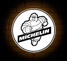 MICHELIN BADGE SIGN LED LIGHT BOX MAN CAVE GARAGE WORKSHOP GAMES ROOM BOY GIFT