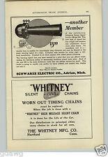 1925 PAPER AD Schwarze Horn KD Lamp Light Headlight Car Auto Automobile